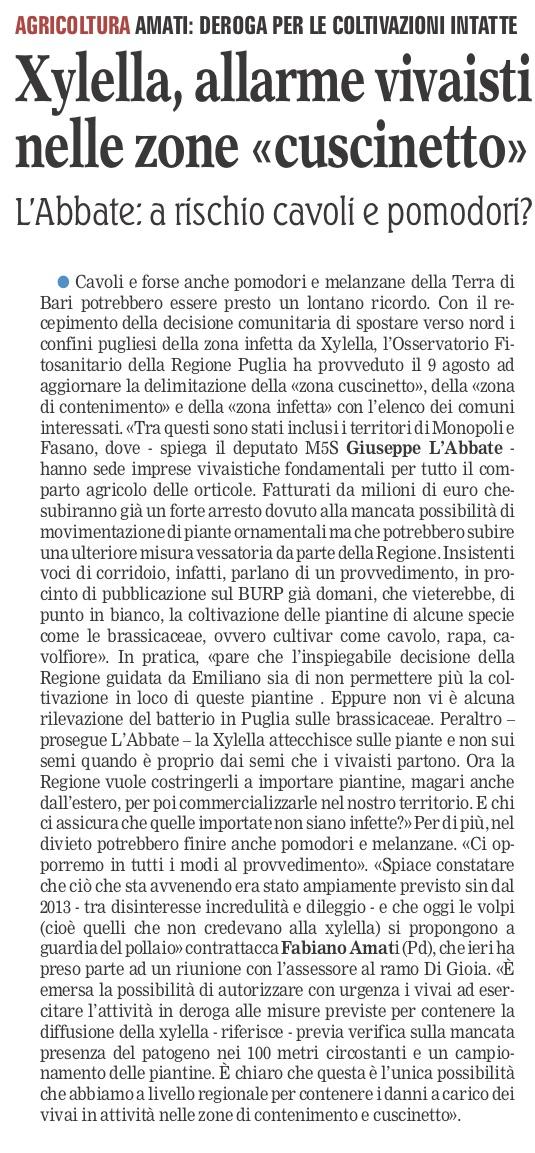 La Gazzetta del Mezzogiorno - 05.09.2018