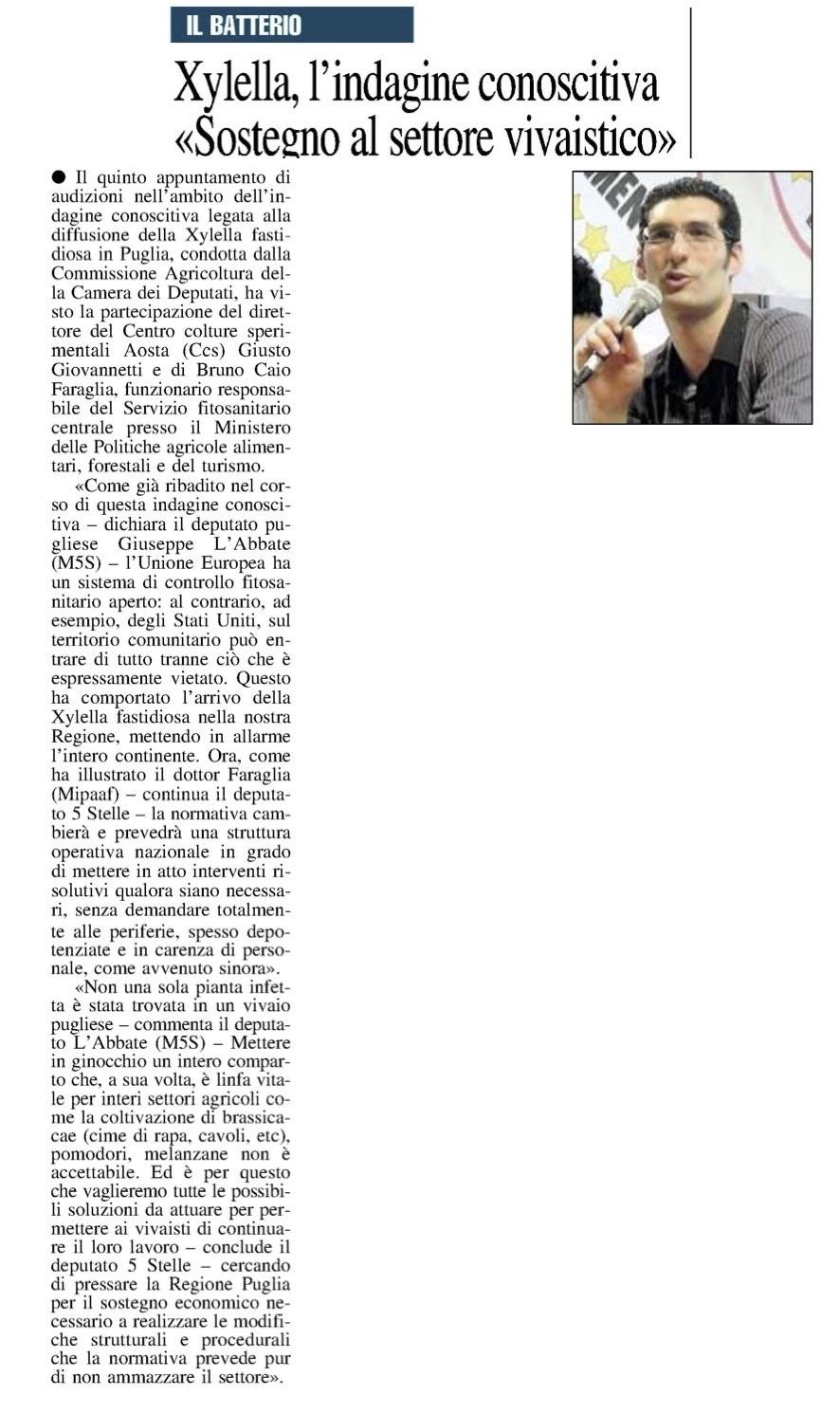 Il Nuovo Quotidiano di Puglia - 4.10.2018