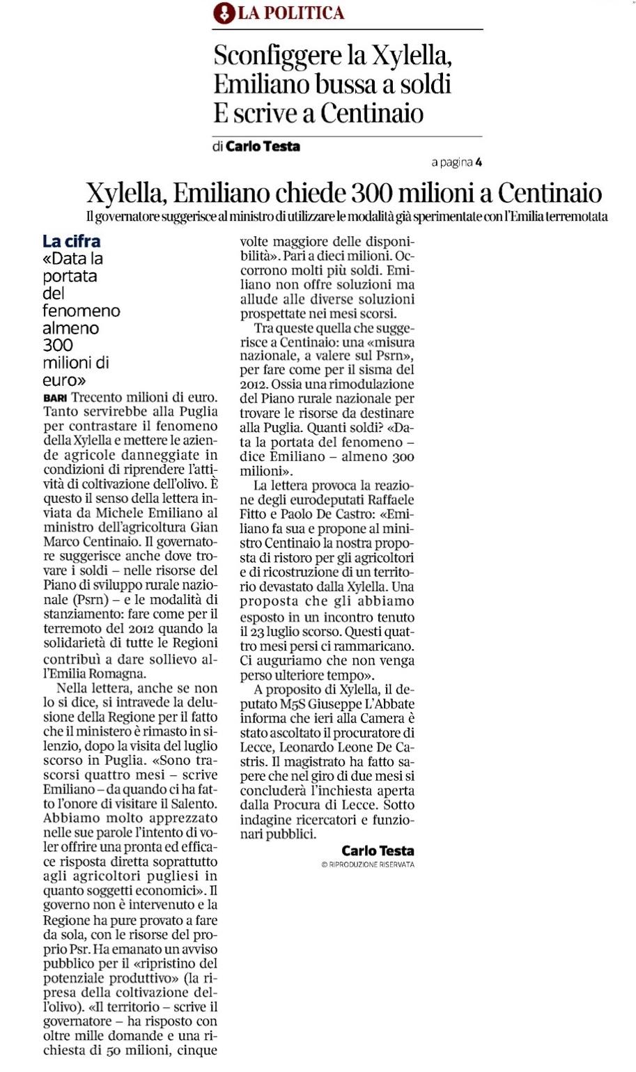 Il Corriere del Mezzogiorno - 8.11.2018
