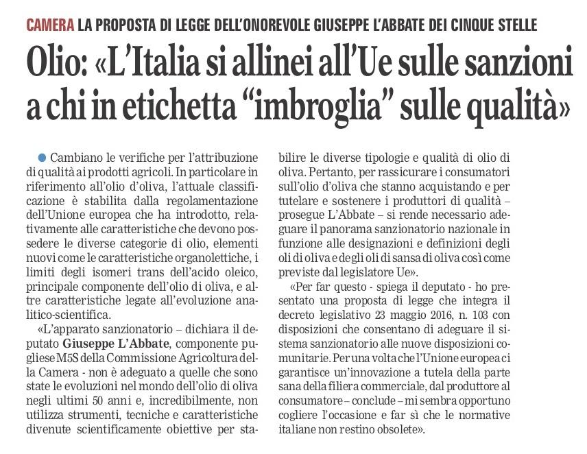 La Gazzetta del Mezzogiorno - 01.11.2018