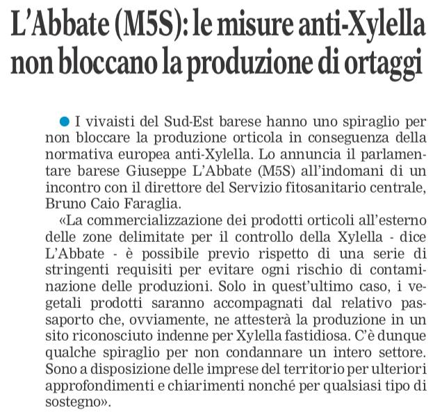 La Gazzetta del Mezzogiorno - 04.11.2018