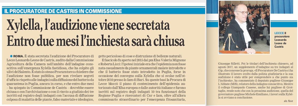 La Gazzetta del Mezzogiorno - 08.11.2018