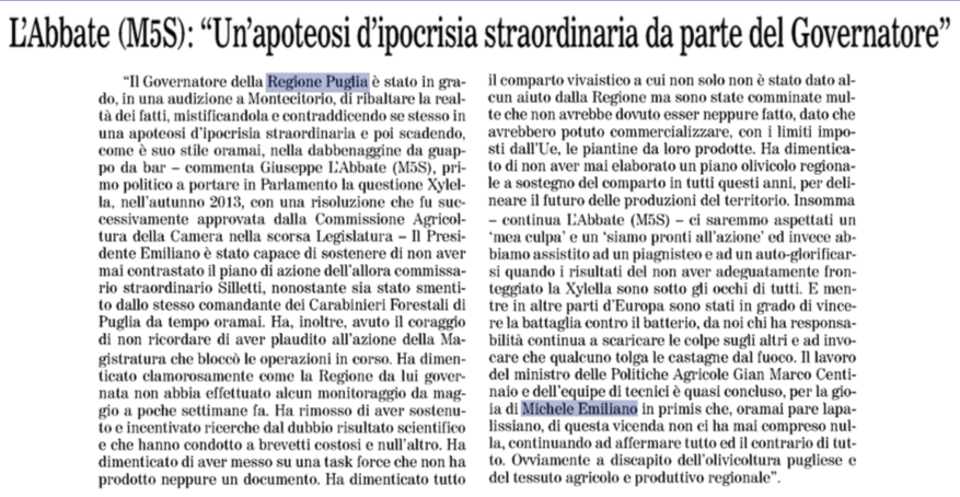 Il Quotidiano di Bari - 15.11.2018