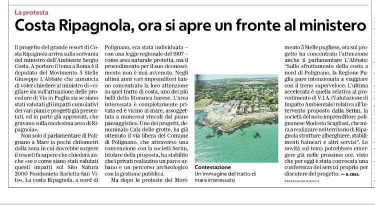 La Repubblica Bari - 14.11.2018