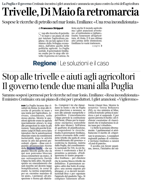 Il Corriere del Mezzogiorno - 10.01.2019