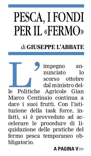 La Gazzetta del Mezzogiorno - Nordbarese - 14.01.2019