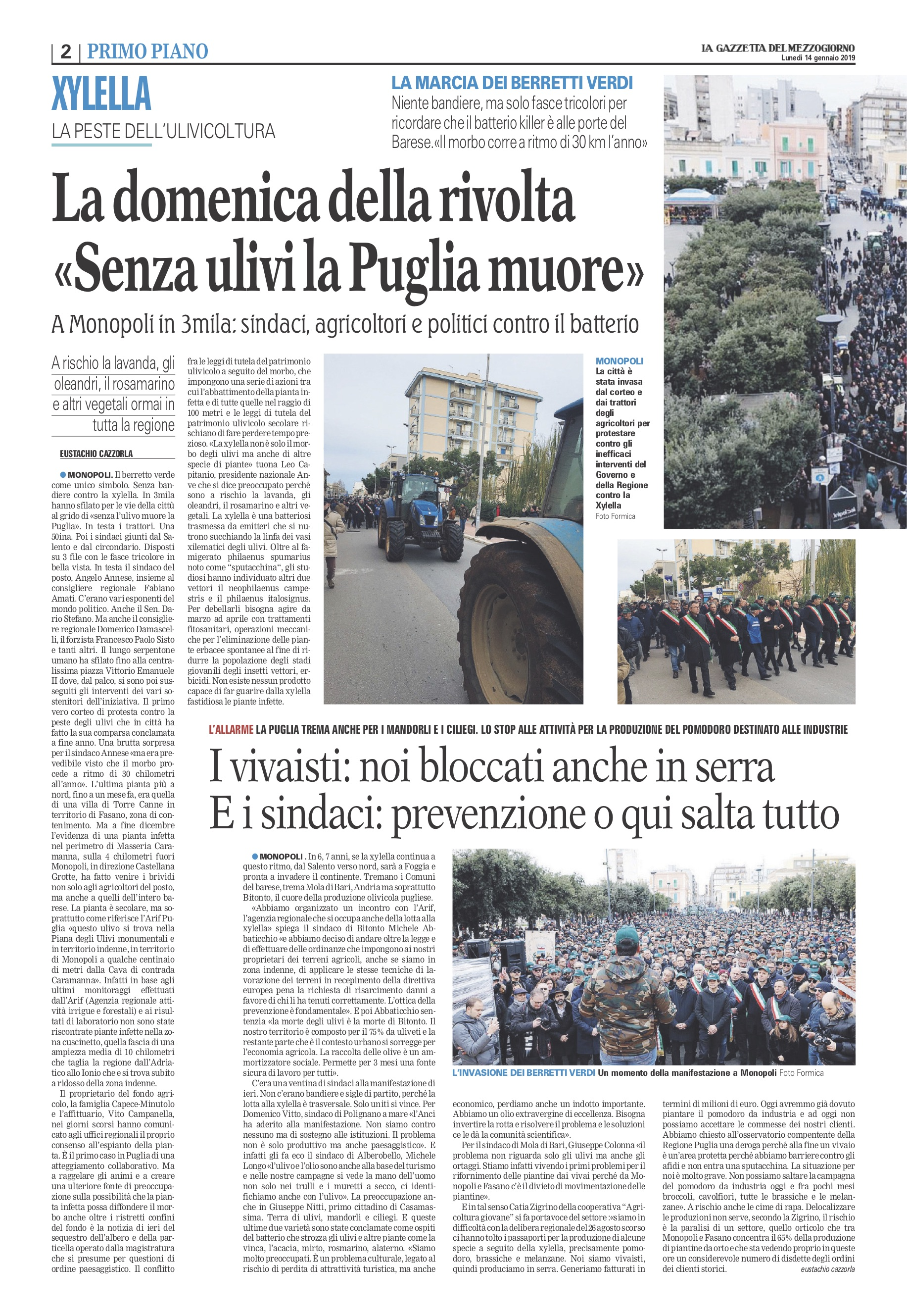 La Gazzetta del Mezzogiorno - 14.01.2019