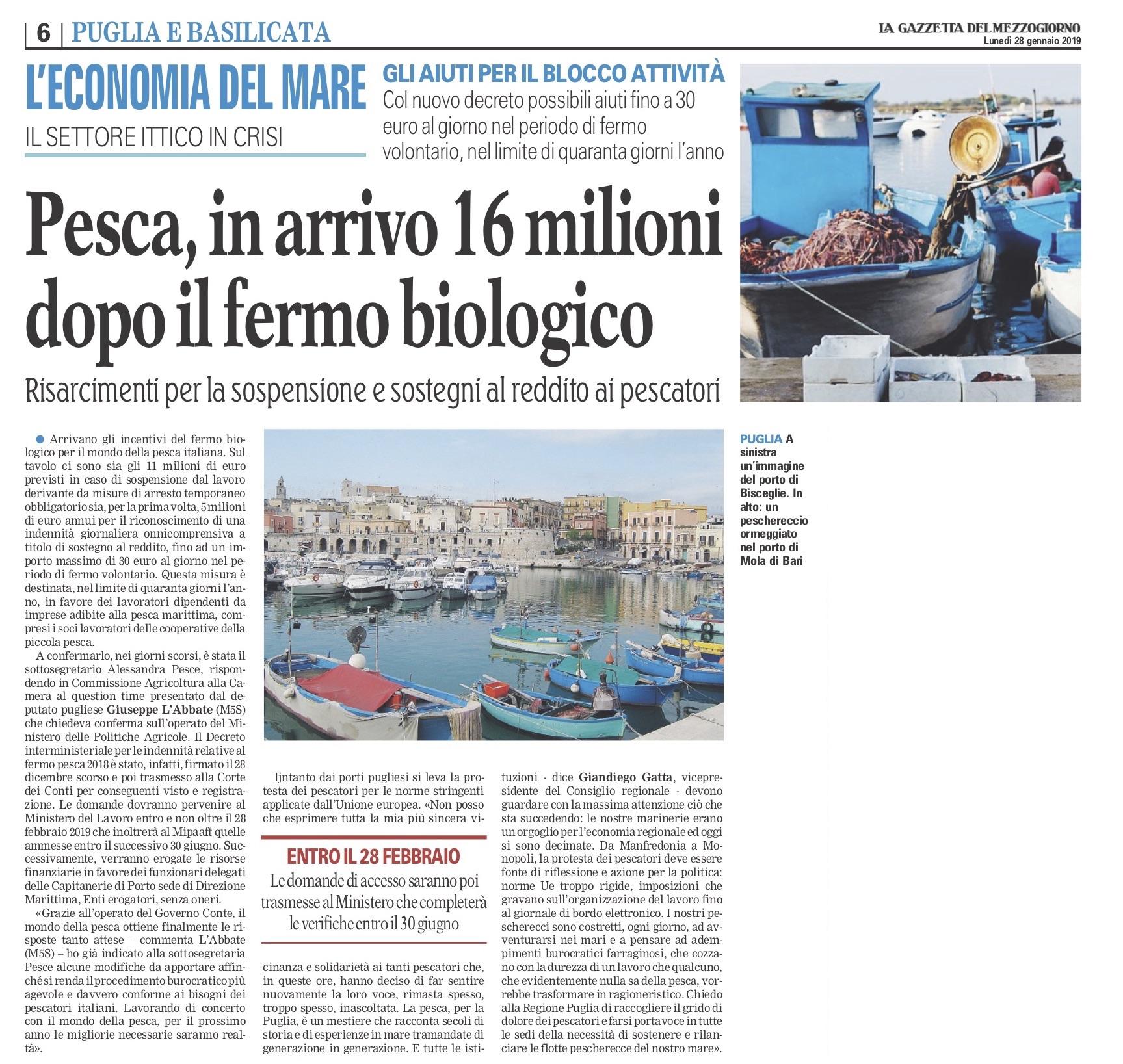 La Gazzetta del Mezzogiorno - 28.01.2019