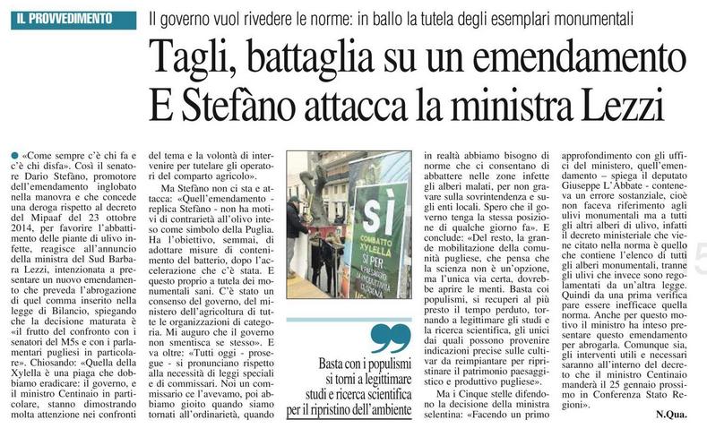 Il Nuovo Quotidiano di Puglia - 14.01.2019