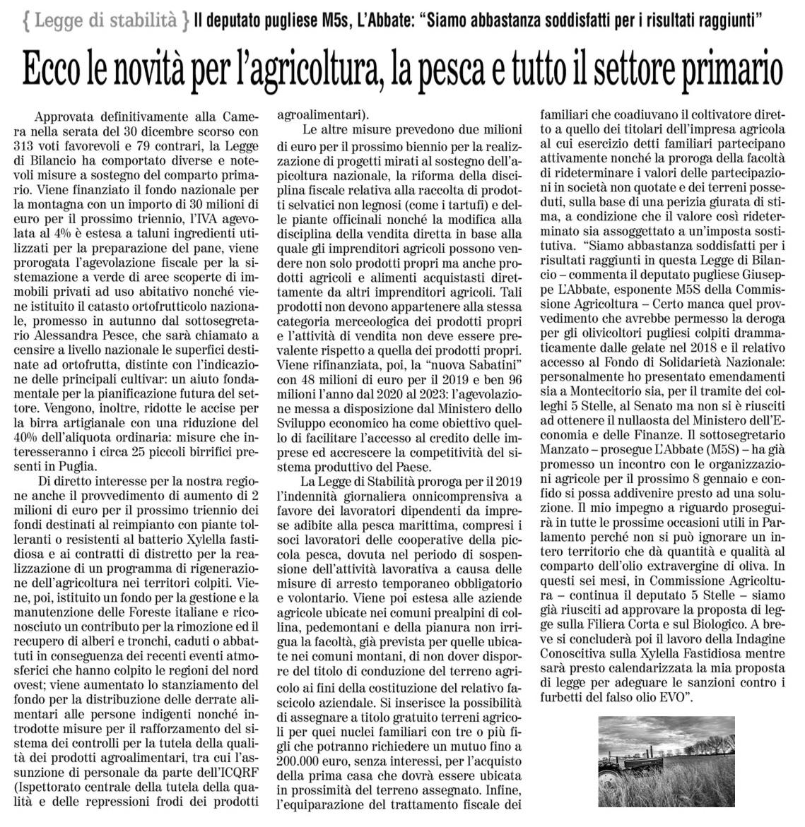 Quotidiano di Foggia - 03.01.2019