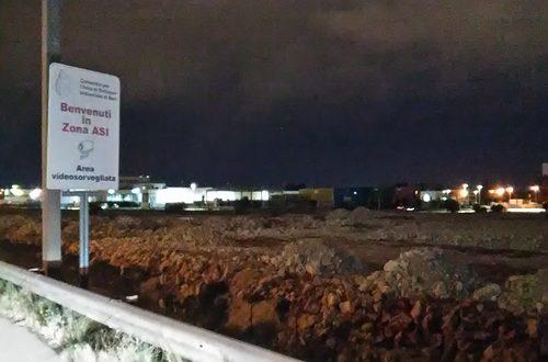 Alcuni cittadini hanno visto smaltire materiale di risulta ed inerti nell'area bonificata dell'ASI Bari-Modugno destinata a parco