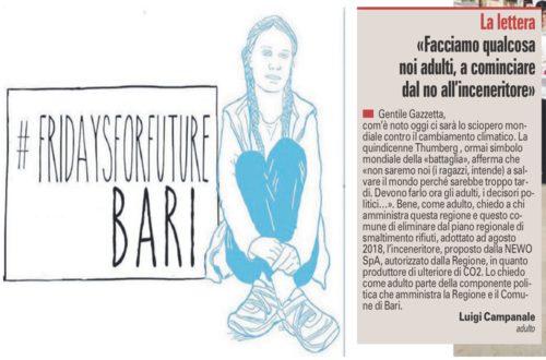 Il mondo manifesta in nome della tutela ambientale seguendo l'esempio di Greta ma nella Terra di Bari imperversa Michele Emiliano