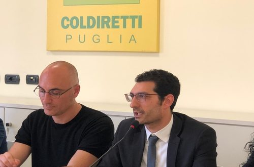 Giuseppe L'Abbate (M5S) con Savino Muraglia (Coldiretti)